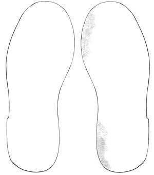 Suola interno scarpe