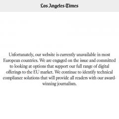 Privacy, 100 quotidian USA non accessibili.